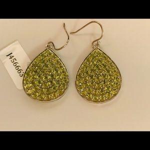 Peridot sterling silver pear shaped earring, New